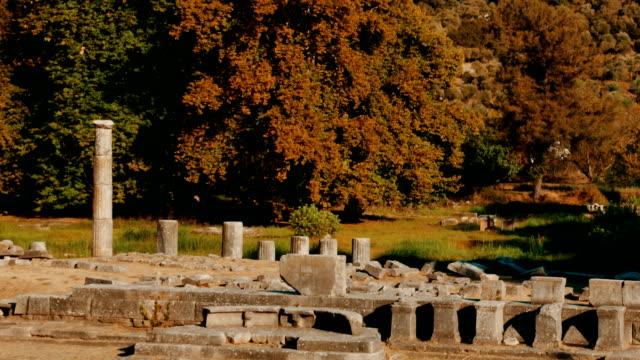 Ancient Agora, Limenas, Thassos, Greece video