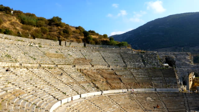 Ancient amphitheater  in Ephesus Ancient City amphitheater , Ephesus, Roman, Greek, Anatolia aegean turkey stock videos & royalty-free footage