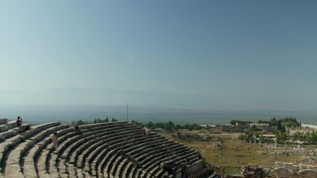 Ancient amphitheatre. Pamukkale Hierapolis Theatre Ancient City.