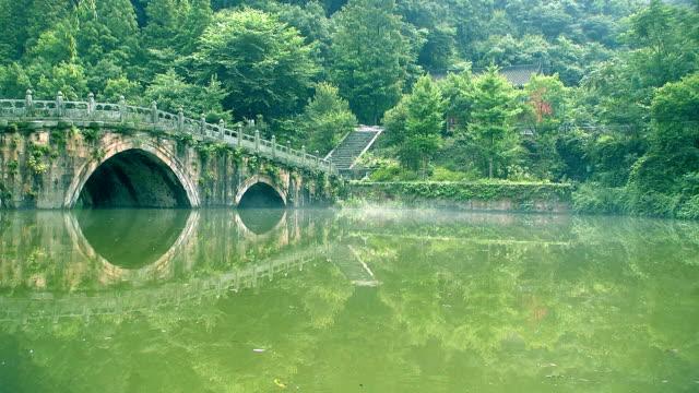 Ancient bridge over the river