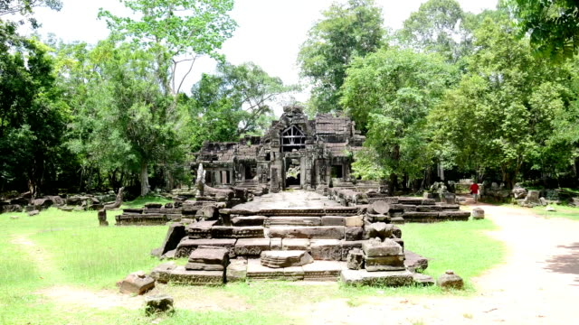 Ancient buddhist khmer temple in Angkor Wat, Cambodia. Banteay Kdei Prasat video