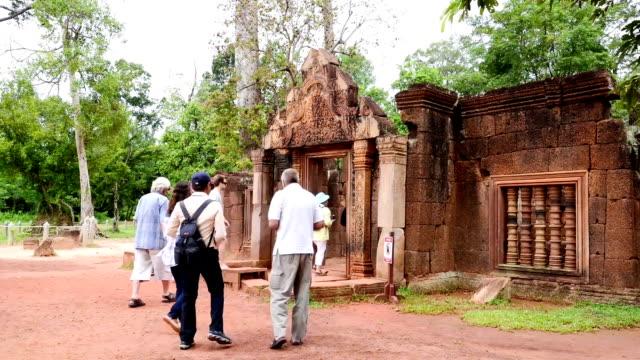 Ancient buddhist khmer temple in Angkor Wat, Cambodia. Banteay Srey Prasat video