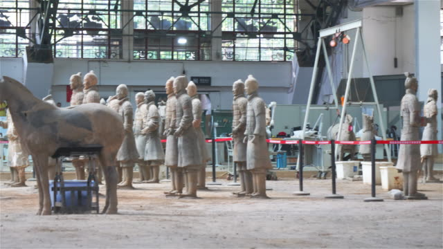 Ancient Chinese historical relics of Terracotta Warriors in Xian China