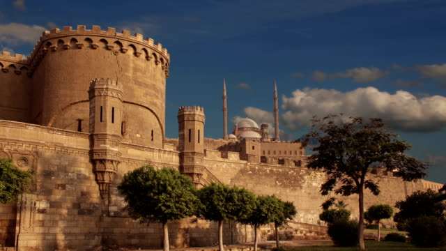 Ancient citadel of Cairo. Egypt. Time lapse. video