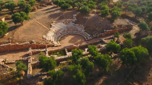 Ancient City of Aptera, Western Crete, Greece. Ruins, Archaeological site video