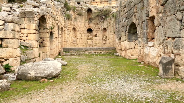 ancient city of Arycanda 5th or 6th century BC Ancient Arycanda City at Turkey ancient architecture stock videos & royalty-free footage