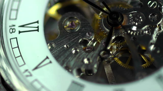 Ancient clock close-up, transience of time. The price of every video
