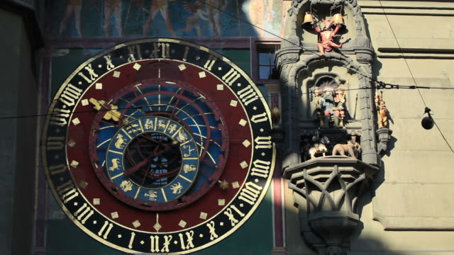 ancient clock tower in bern - ancient architecture stock videos & royalty-free footage