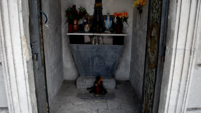 Ancient crypt. Lviv, Ukraine. video