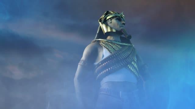 forntida egyptisk farao rendera 3d - egyptisk kultur bildbanksvideor och videomaterial från bakom kulisserna