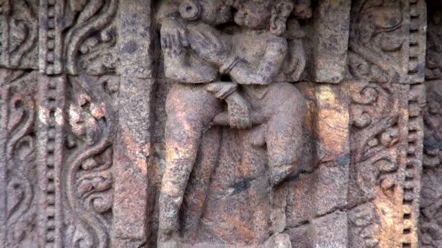 ancient erotic  art sculptures on Konark sun temple, Odisha, India