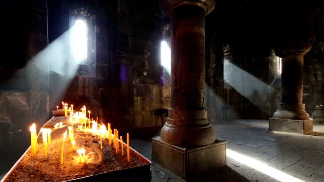 stockvideo's en b-roll-footage met ancient geghard monastery in armenia - klooster