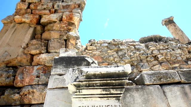 古代ギリシャの碑文 - 彫刻点の映像素材/bロール