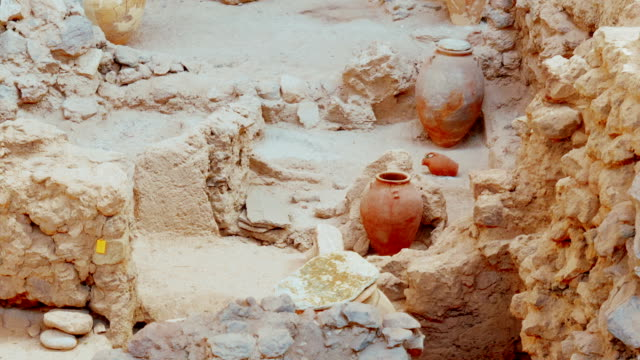 Ancient Greek Ruins Amphora Wide Angle video