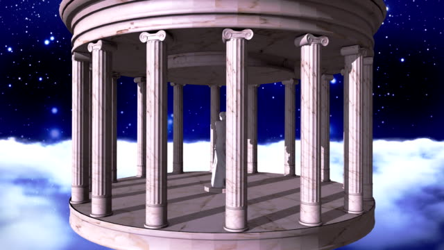 Ancient greek temple in space video