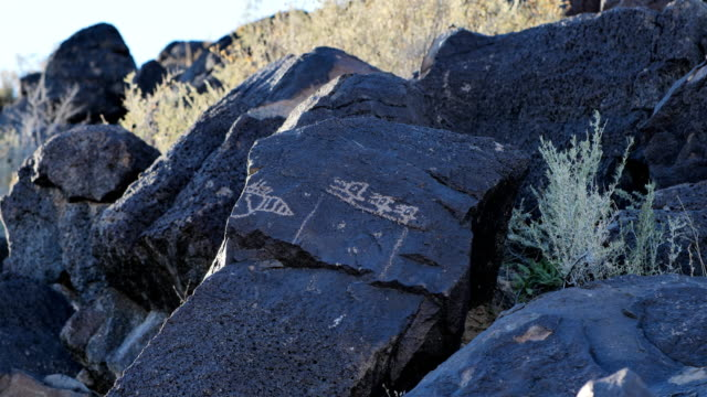 Ancient Native American Petroglyph: National Petroglyph monument: New Mexico: USA