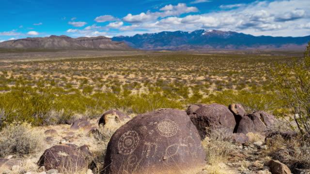 Ancient Native American Petroglyph: Three Rivers Petroglyph Site: New Mexico: USA