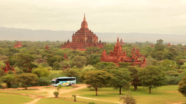Ancient pagodas in Bagan Mandalay, Myanmar video