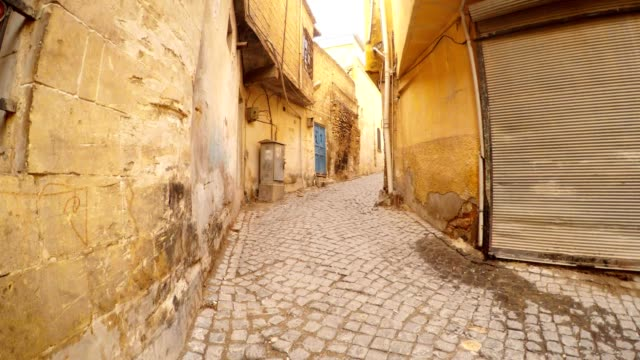 Ancient Paved Street Modern Rolets Sanliurfa video