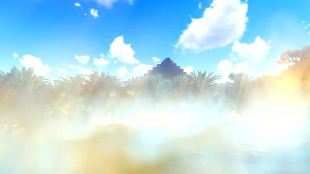 Ancient pyramids on desert video
