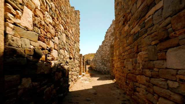 Ancient Street in the Greek Island of Delos video