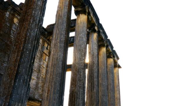 Ancient Temple Aizanoi 4K, 29.97P, Sliding Shot greek architecture stock videos & royalty-free footage