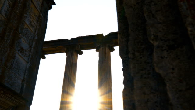 ancient temple aizanoi - attyka grecja filmów i materiałów b-roll