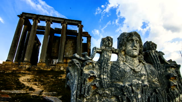Ancient Temple Aizanoi 4K, 29.97P Timelapse archaeology stock videos & royalty-free footage