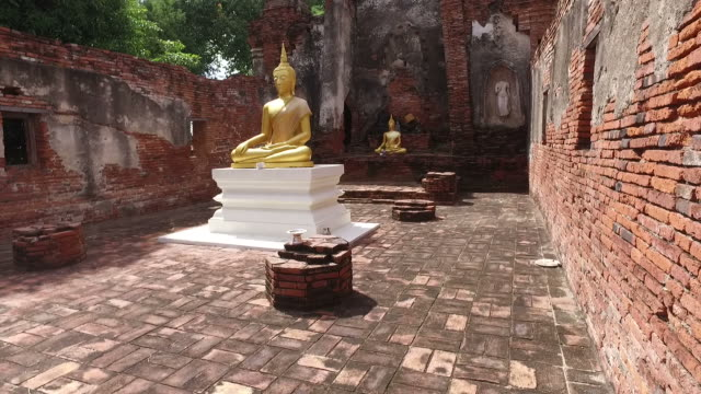 Ancient temple in Ayuthaya, Thailand video