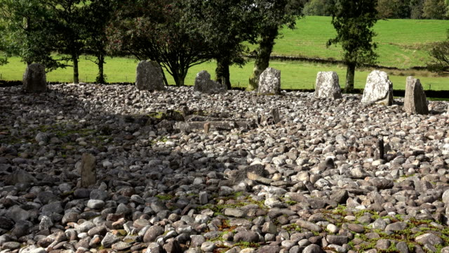 Ancient Temple Wood stone circle Kilmartin Glen Scotland Neolithic grave video