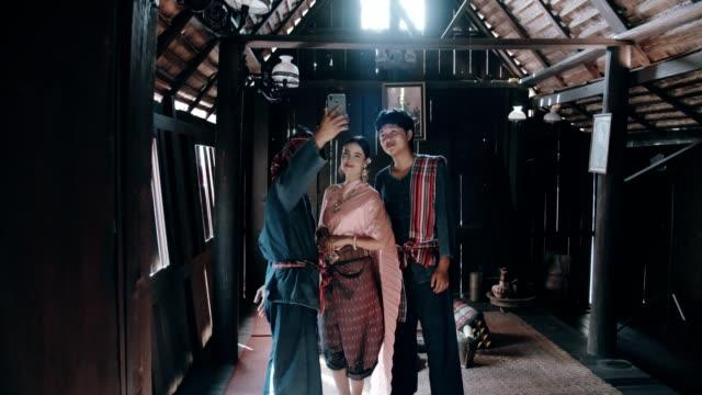 Ancient Thai Family Selfie