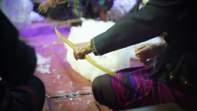 Ancient Thai hand weaving cotton video