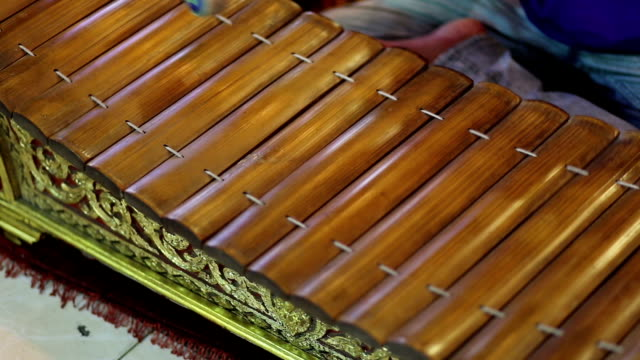 Ancient thai style xylophone video