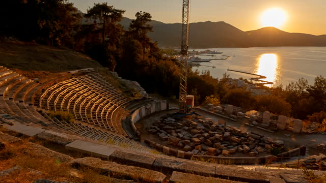Ancient Theater, Limenas, Thassos, Greece video