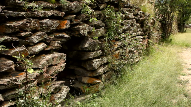 Ancient wall built by Wari people video