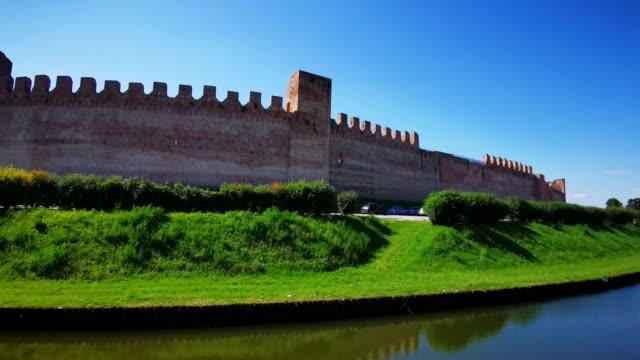 Ancient walls of the medieval village of Cittadella
