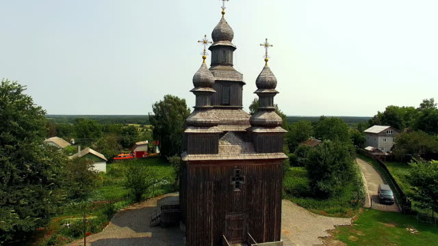 Ancient wooden church of St. George in Sednev video