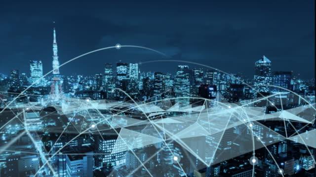 5gとai技術、グローバル通信ネットワークコンセプト。ビジネスグラフ。グローバルビジネス。 - 経済点の映像素材/bロール