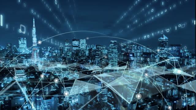 5gとai技術、グローバル通信ネットワークコンセプト。ビジネスグラフ。グローバルビジネス。 - 安全点の映像素材/bロール