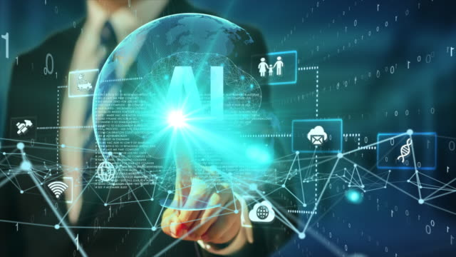 5gとai技術、グローバル通信ネットワークコンセプト。ビジネスグラフ。グローバルビジネス。 - サービス点の映像素材/bロール