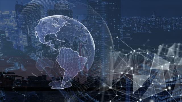5gとai技術、グローバル通信ネットワークのコンセプト - モノのインターネット点の映像素材/bロール