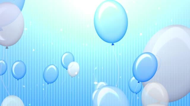 POP and Cute Blue Balloon [7sec Loop] video