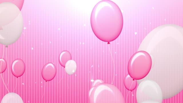 POP and Cute Pink Balloon [7sec Loop] video