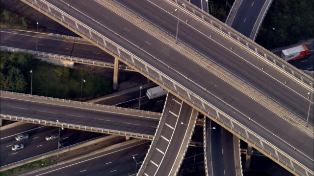 M25 And M23 Junction  - Aerial View -, United Kingdom video