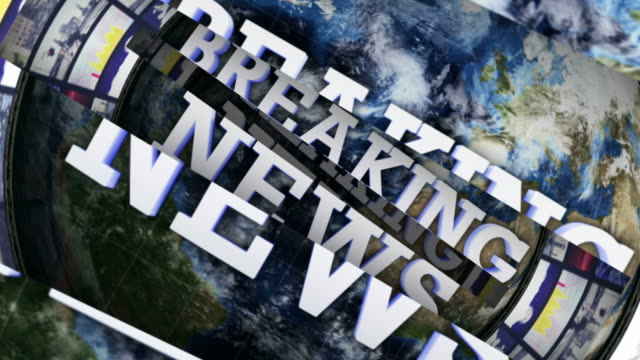BREAKING NEWS and OPEN BARS, with Green Screen and Alpha Channel, Loop video
