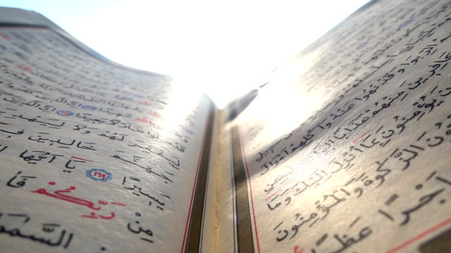 QURAN and sunset video