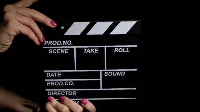vidéos et rushes de et... action!! industrie cinématographique, rouleau b - cinéma
