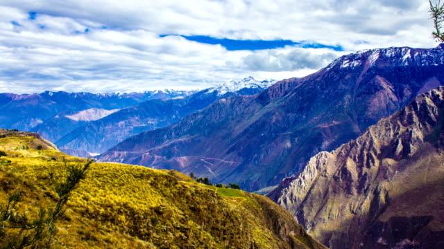 Andean Mountain, Colca Canyon, Peru, South America, Time Lapse
