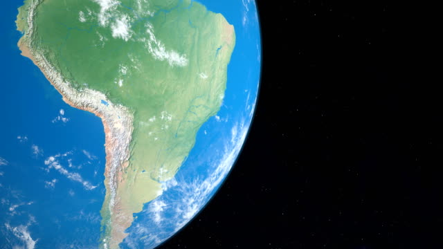 andes or andean mountains in south america continent planet earth, aerial view from outer space - aerial map stock videos & royalty-free footage