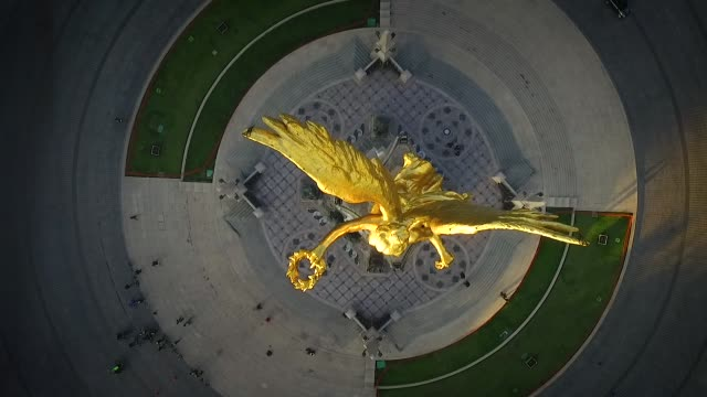 angel of independence, mexico city - город мехико стоковые видео и кадры b-roll